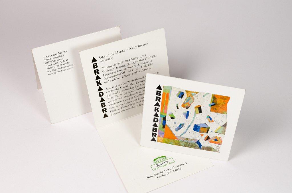 Einladungskarte für Kunst-Ausstellung