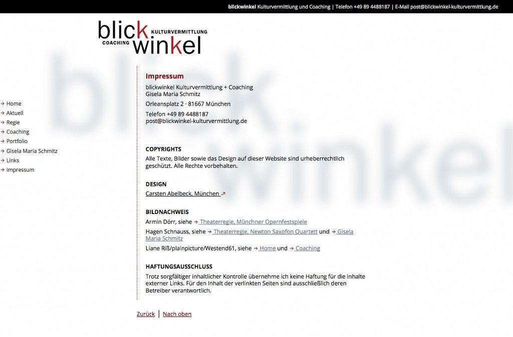 blickwinkel Kulturvermittlung und Coaching