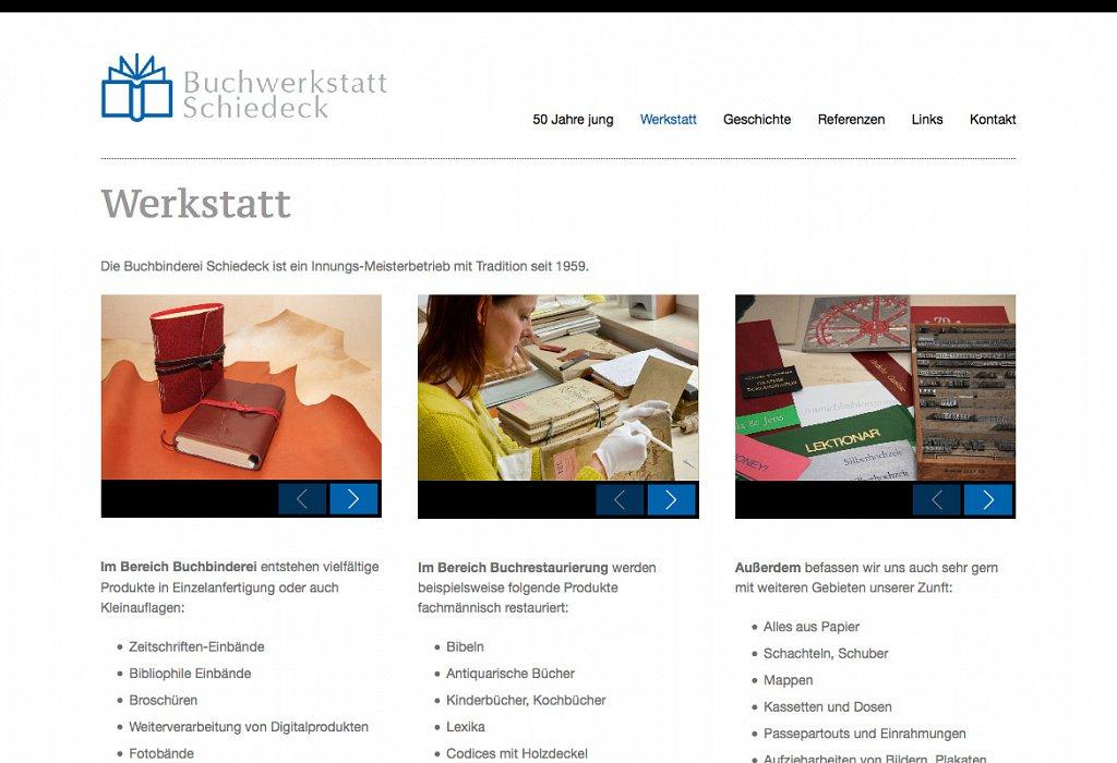 Buchwerkstatt Schiedeck