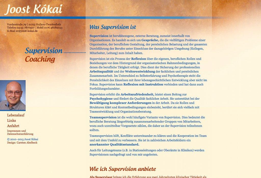 Joost Kókai Praxiswebsite