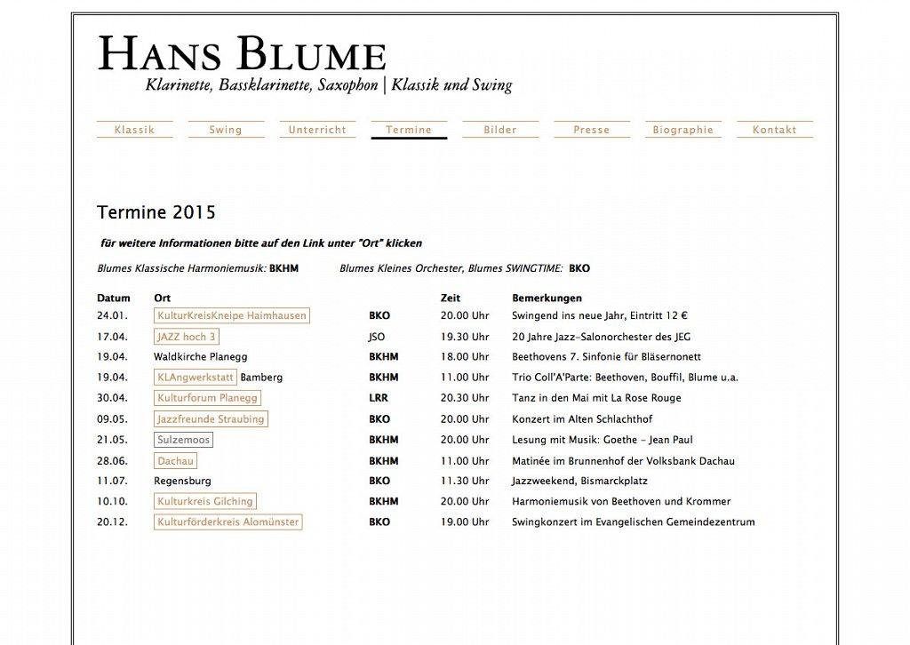 Hans Blume Klassik und Swing