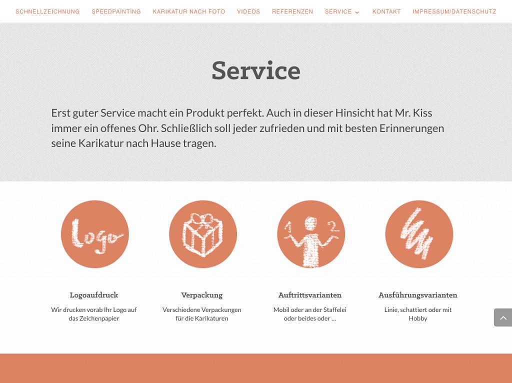 Abschnitt Service-Menü